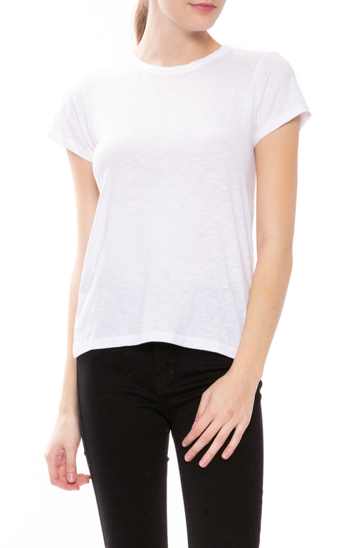 Rag & Bone Round Neck T-Shirt in White at Ron Herman
