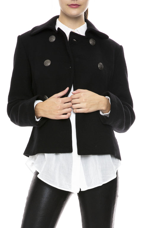 Nili Lotan Franklin Peacoat  in Black