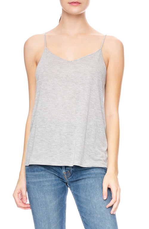 Beautiful People Thin Strap Cami in Heather Grey at Ron Herman