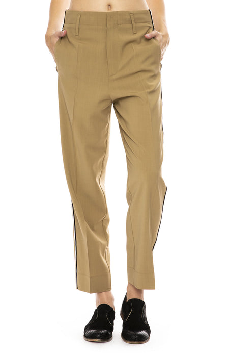 Wool Pant with Side Stripe