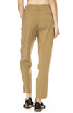 Forte Forte Wool Dress Pants with Side Ribbon Tape in Biege