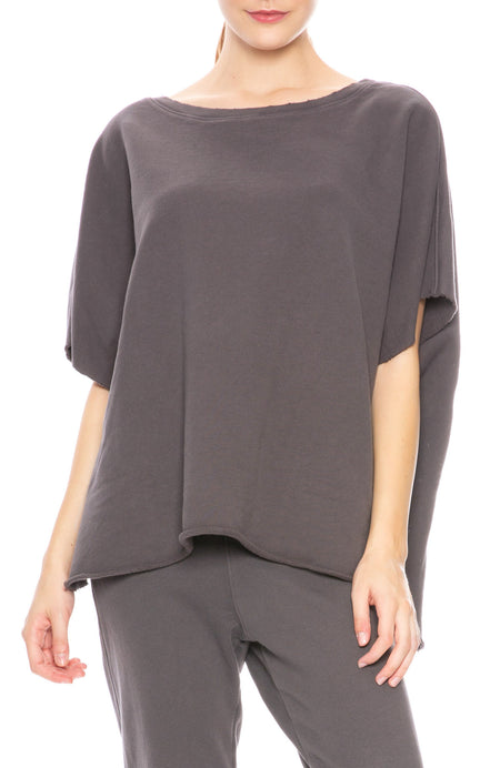 Sleeveless Sweatshirt Poncho