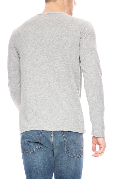 Frame Mens Long Sleeve Waffle Knit Henley at Ron Herman