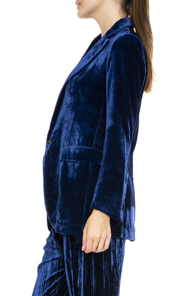Forte Forte Velvet Jacket in Bluette