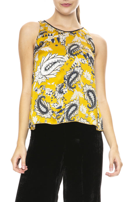 Afrika Print Satin Silk Top