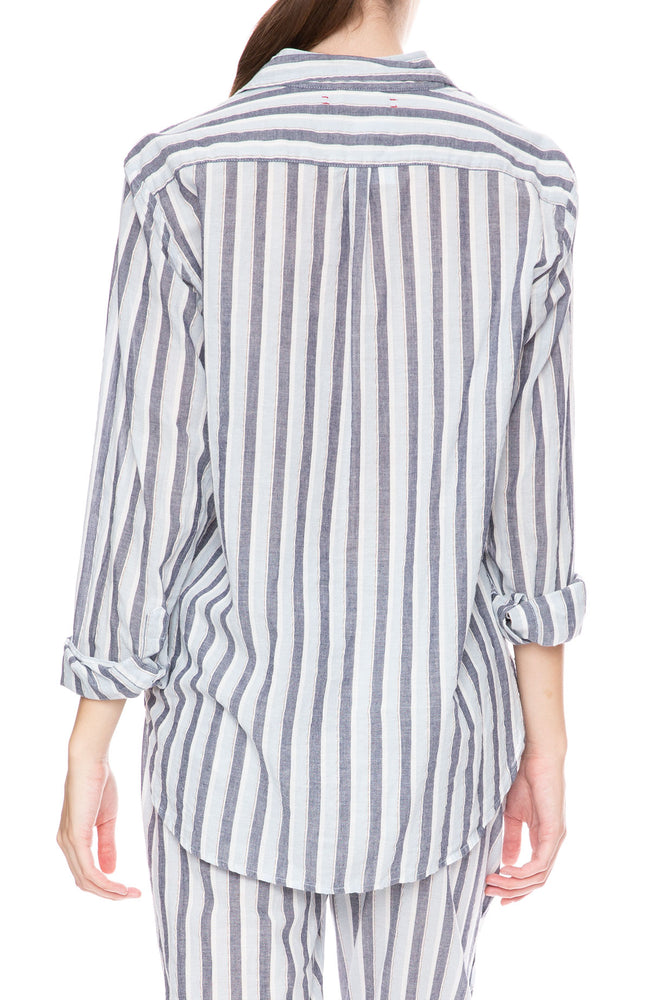 Xirena Beau Stripe Shirt in The Blues at Ron Herman
