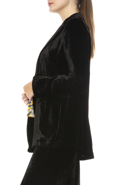 Forte Forte Velvet Jacket in Nero