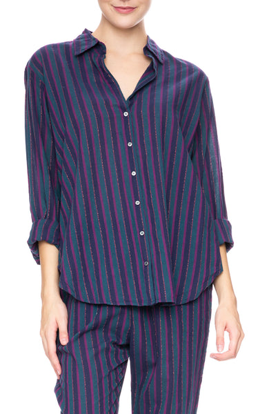 Xirena Beau Stripe Shirt in Indigo-go at Ron Herman