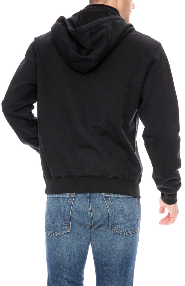 Frame Half Zip Hoodie in Noir Black at Ron Herman