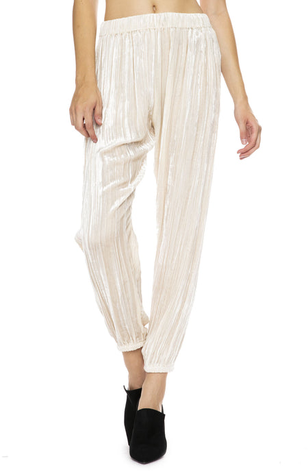Pleated Velvet Pants