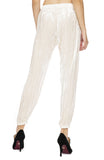 Forte Forte Pleated Velvet Pants in Naturale