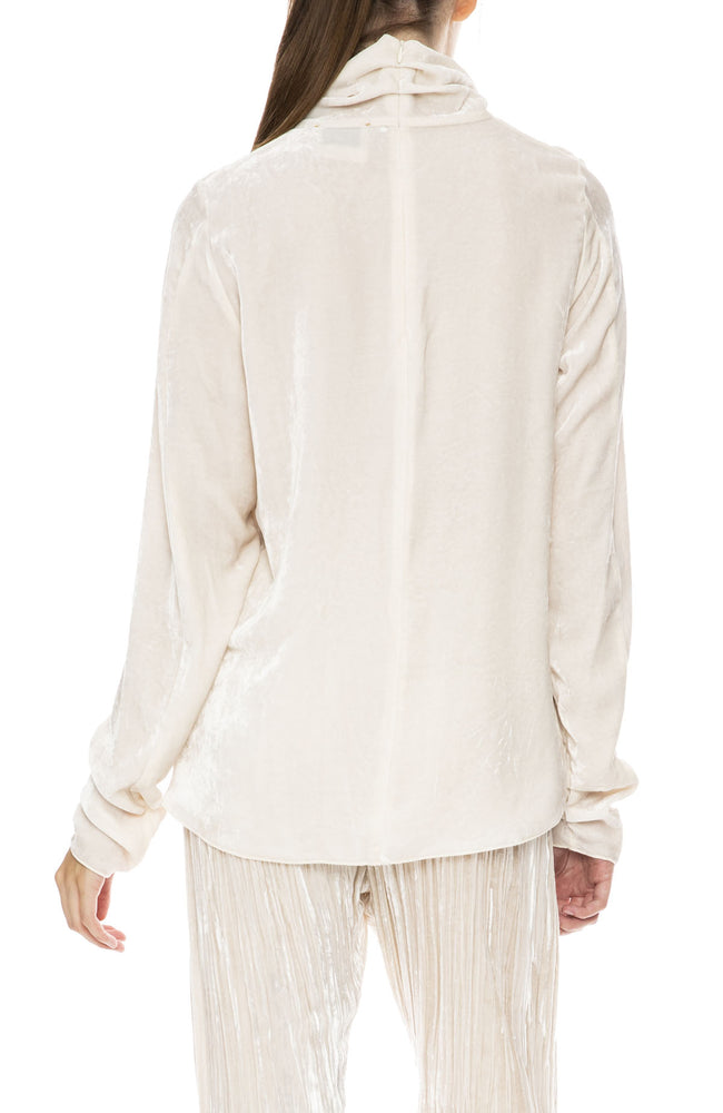Forte Forte Velvet Turtle Neck Top in Naturale