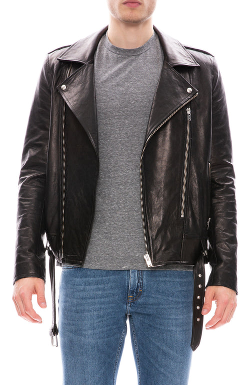 Iro Belted Leather Jacket at Ron Herman