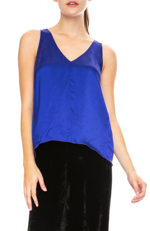 Forte Forte Fluid Satin Top in Bluette
