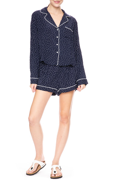 Rails Mini Heart Print Top and Shorts Pajama Set at Ron Herman