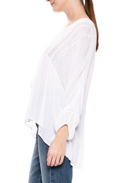 Cool Breeze Woven Blouse