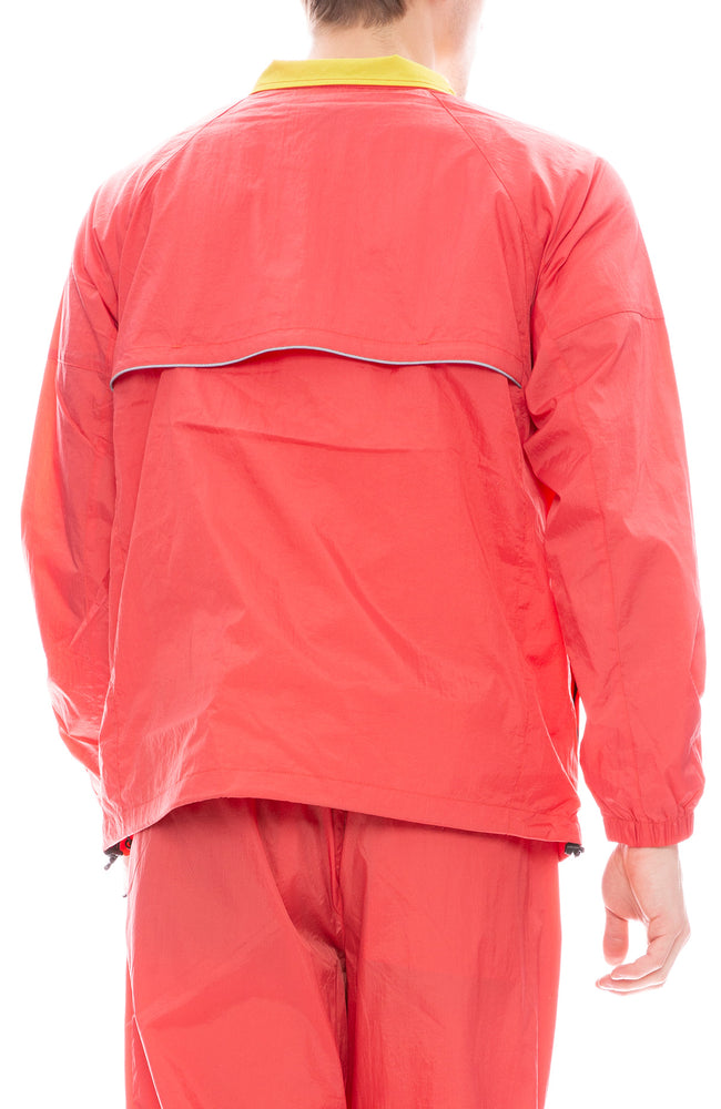 Stussy Nylon Sport Pullover Jacket in Red