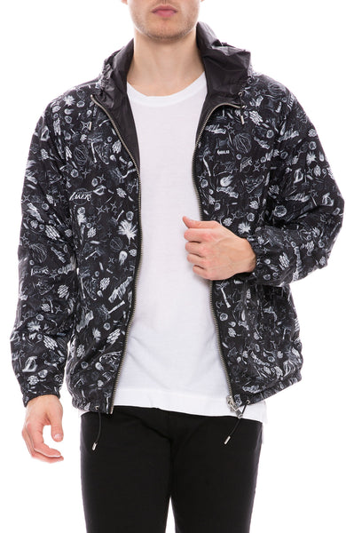 The Very Warm LA Lakers Reversible Bomber at Ron Herman