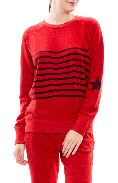 Stripe Star Raglan Sweatshirt