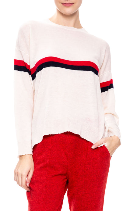 Stripe & Heart Sweater