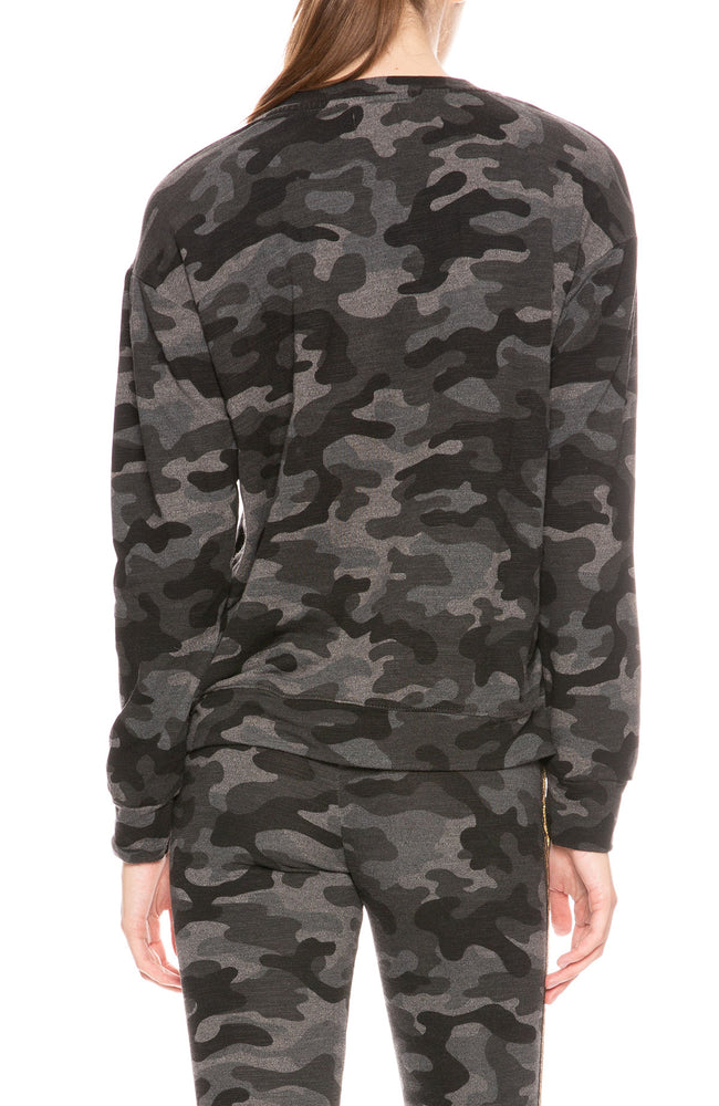 Sundry Camo Basic Sweatshirt at Ron Herman