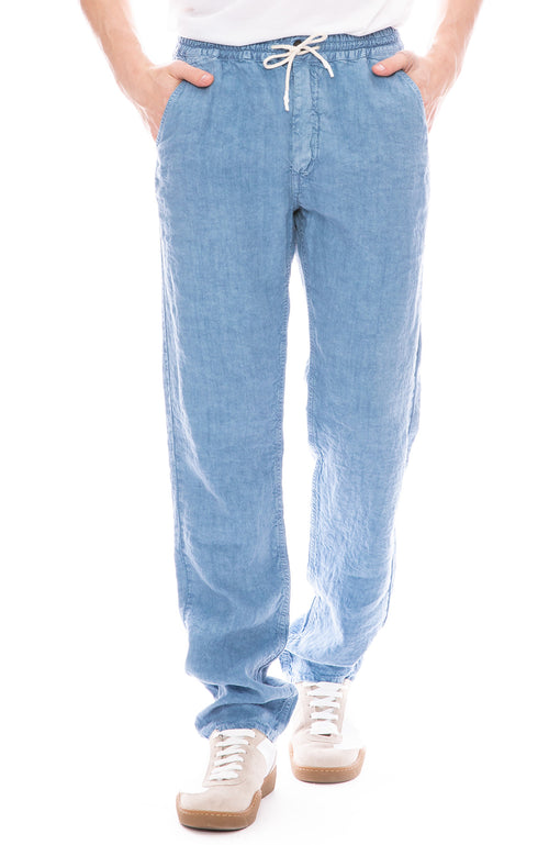 Presidents Mens Trip Solid Drawstring Trouser Pants in Sky Blue
