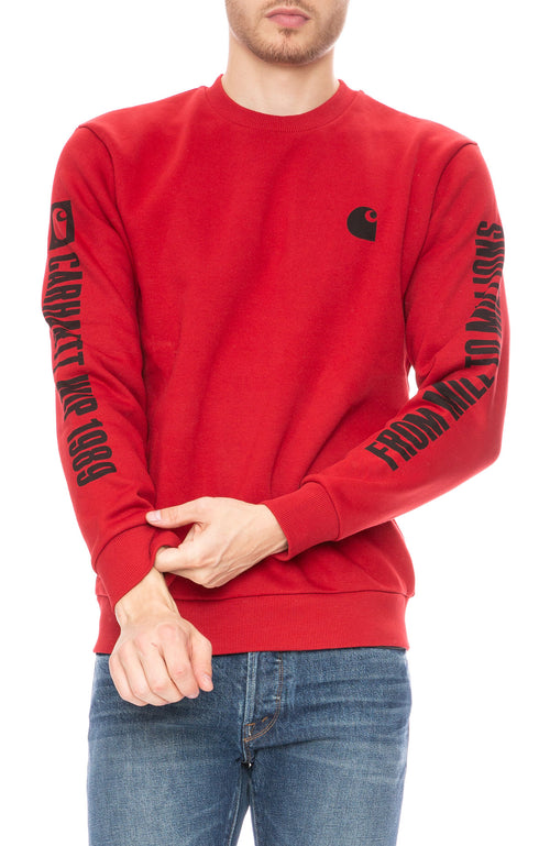 Carhartt 1989 WIP Sweatshirt in Red at Ron Herman
