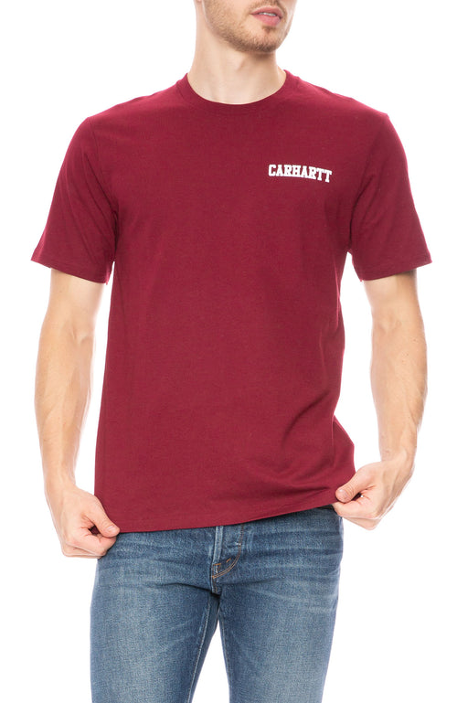 Carhartt WIP College Logo T-Shirt in Mulberry at Ron Herman