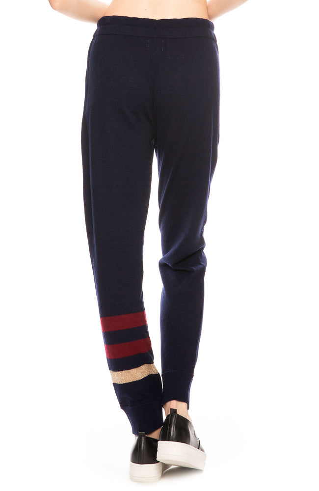Sundry Metallic Stripe Wool Sweatpants at Ron Herman