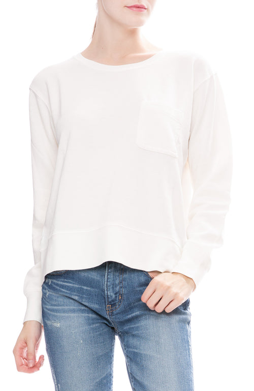Alex Mill Womens Relaxed Fleece Pocket Sweatshirt in Natural