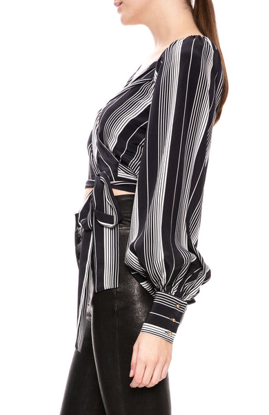 Zimmermann Breeze Stripe Wrap Top at Ron Herman