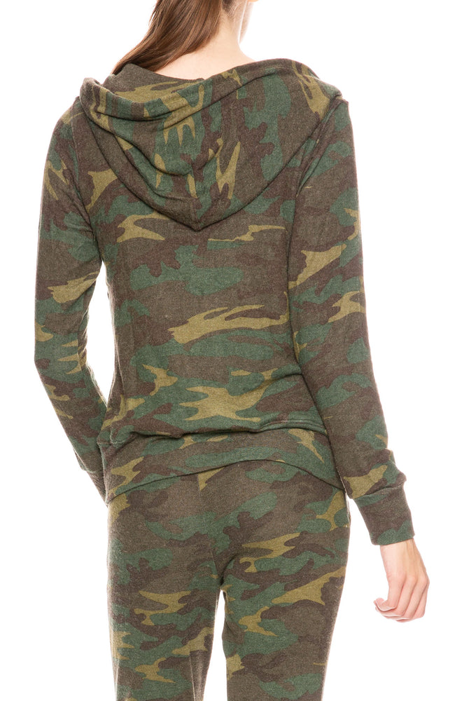 Sundry Camo Zip Hoodie at Ron Herman