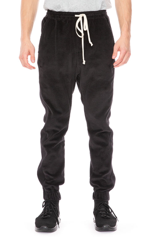 Twenty Montreal Corduroy Sweatpants in Black at Ron Herman
