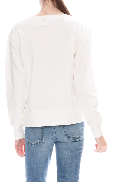 Alex Mill Womens Natural Relaxed Fleece Pocket Sweatshirt