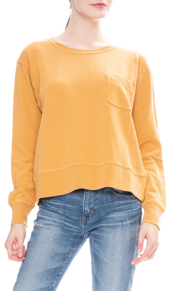 Alex Mill Womens Relaxed Fleece Pocket Sweatshirt in Burnt Honey
