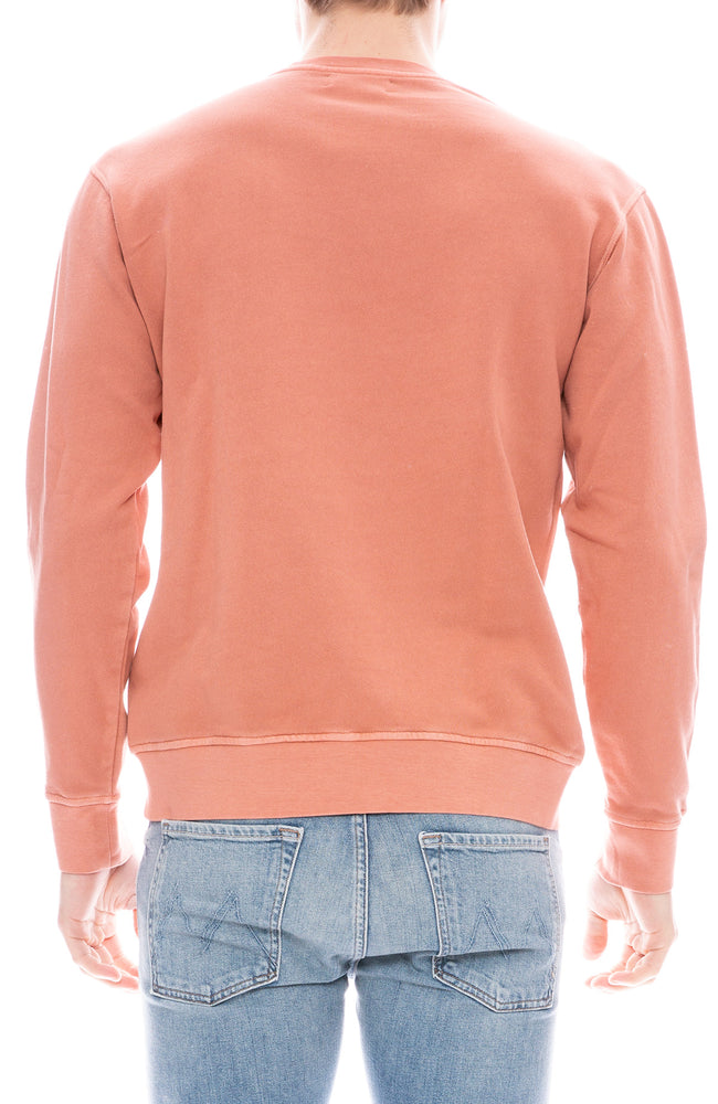 Presidents Organic Crew Neck Pullover Sweatshirt in Rose