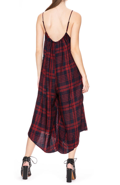 Tysa Sonoma Playsuit in Highland Red Plaid at Ron Herman