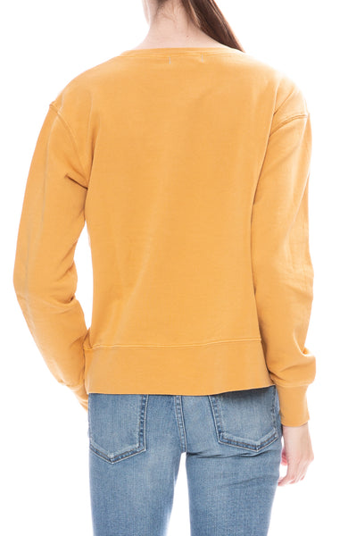 Alex Mill Womens Burnt Honey Relaxed Fleece Pocket Sweatshirt