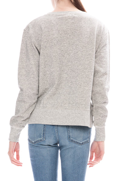 Alex Mill Womens Relaxed Fleece Pocket Sweatshirt in Heather Grey