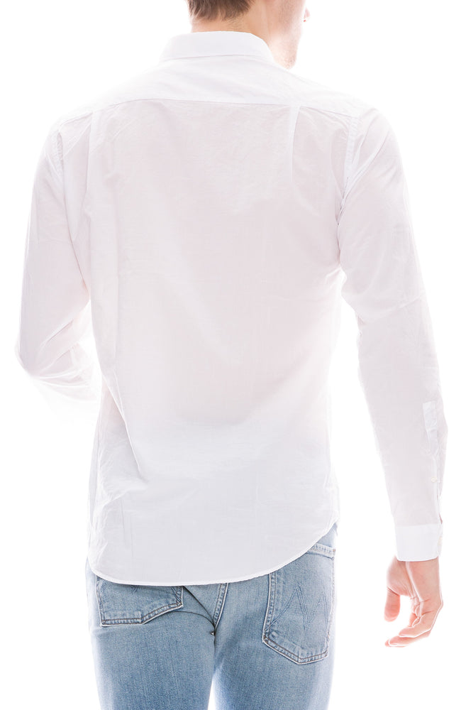 Presidents Chatham Solid White Poplin Button Down Shirt