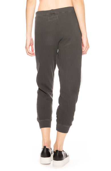 The Great Cropped Sweatpants in Washed Black at at Ron Herman