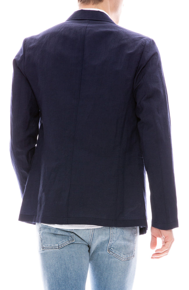 Presidents Liam Linen Blazer in Dark Blue
