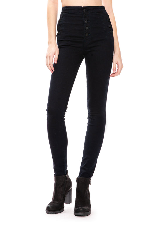J Brand Natasha Sky-High Skinny Jean in Bluebird at Ron Herman