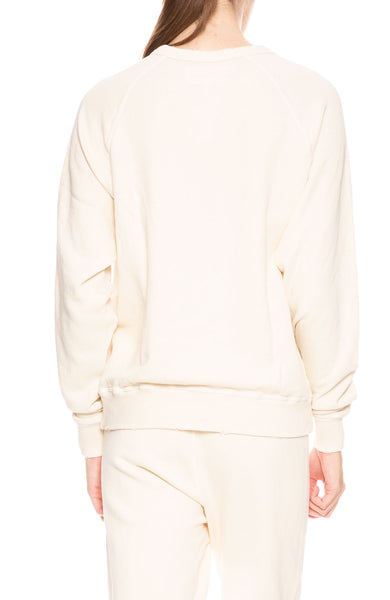The Great College Sweatshirt in Washed White at Ron Herman