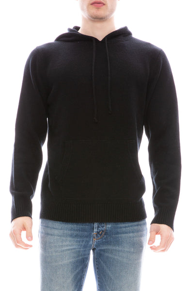 Ron Herman Exclusive 100% Cashmere Pullover Hoodie in Black