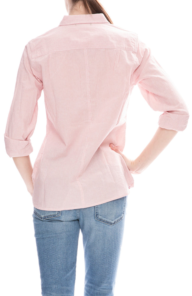 Alex Mill Womens Striped Button Down Shirt in Dusty Pink