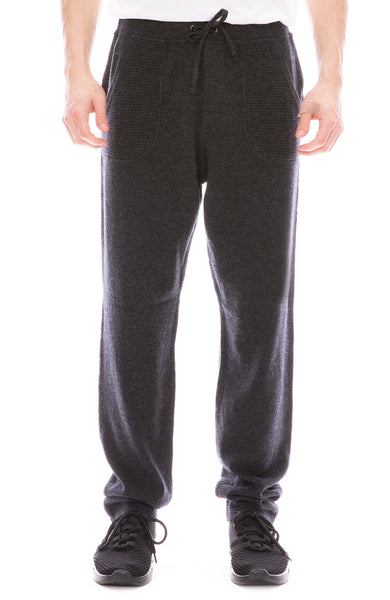 Ron Herman Exclusive 100% Pure Cashmere Sweatpants in Asphalt Grey