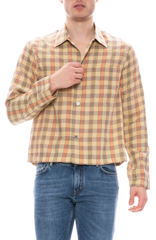 Our Legacy Shrunken Glen Check Shirt at Ron Herman