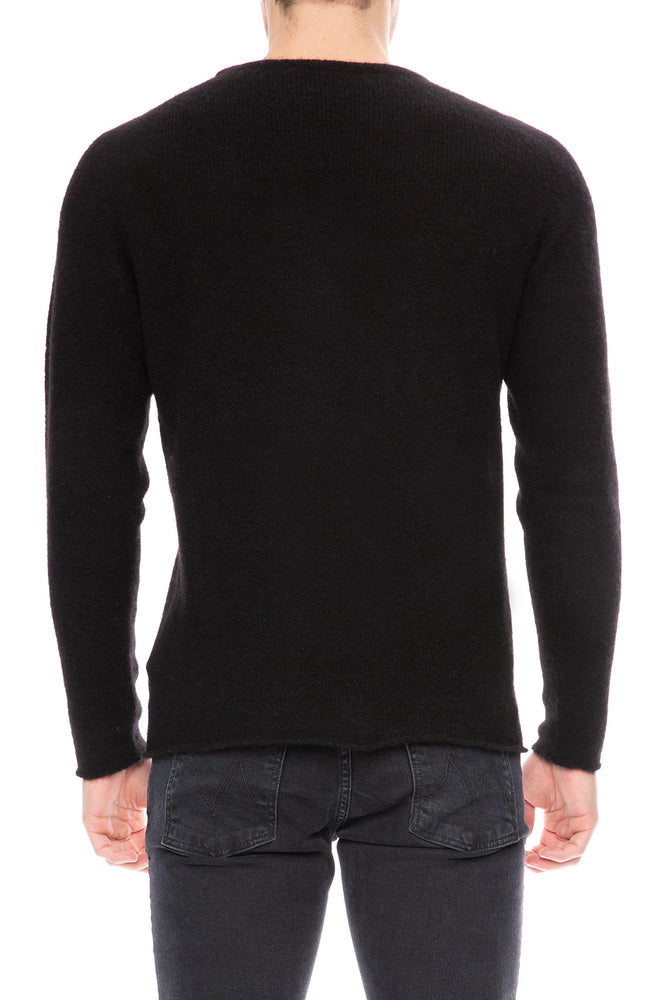 Roberto Collina Cashmere Silk Sweater in Black at Ron Herman