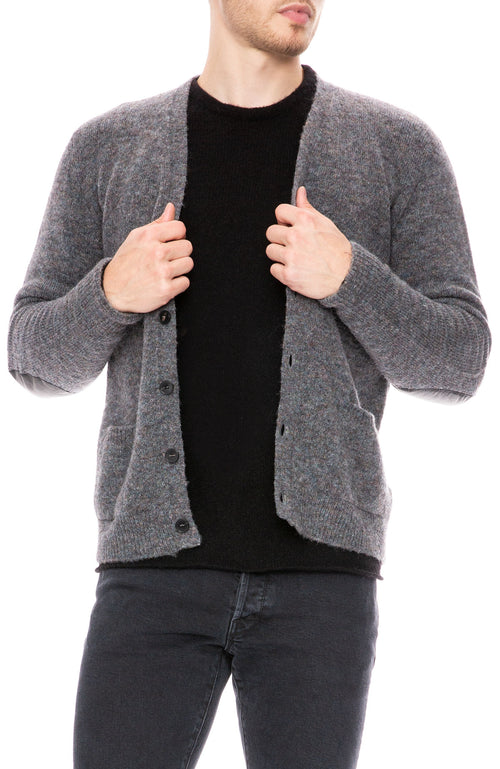 Roberto Collina Fake Shetland Cardigan in Grey at Ron Herman